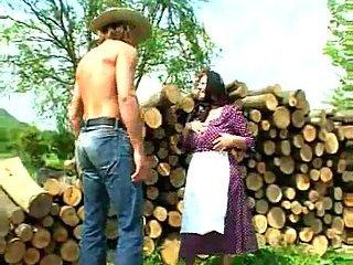 Dirty Granny fucked lumberjack