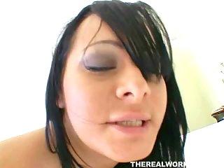 Pornstar gets fucked hard from behind