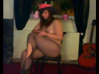 Horny girl enjoys live webcam show