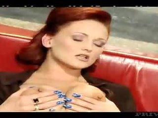 Redhead milf gets double pleasure