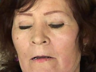 Pounded granny gets facial
