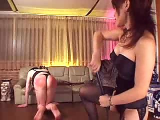 Horny bdsm with spanking action
