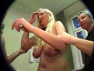 Thumb Dirty Blonde Gets Humiliating Gang Bang
