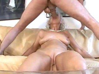 Lustful mature enjoys cock hard shoves