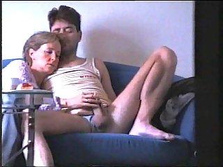 Amateur wife jerking hubby cock
