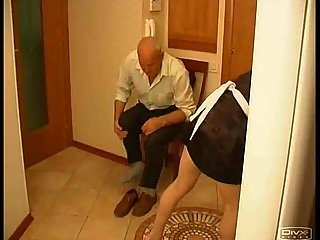 Thumb Seductive Brunette Maid Gets Rammed By Old Fart