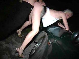 Depraved Blonde Milf Gets Fucked In A Car