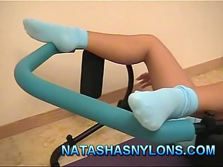 Pussy petting on the trainer