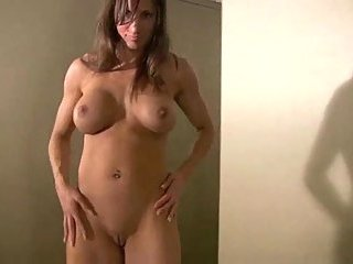 Titty Brunette Teasing With Perfect Body