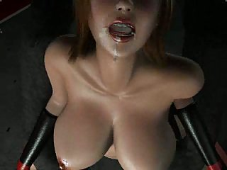 3D busty slut fucked by monster