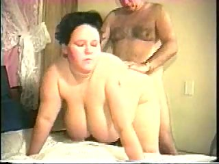 Busty BBW wife banged on bed