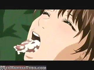 Cute anime tart fucked and throated