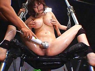 Bondage Japanese gets toyed