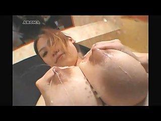 Japanese slut with huge milky boobs