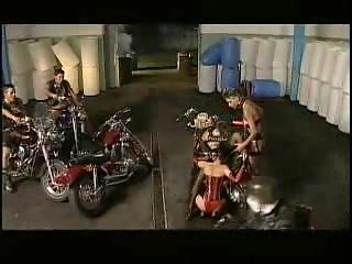 Hot Group Sex Among Motorcycles