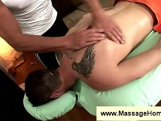 Jason Crew gets a sensual massage
