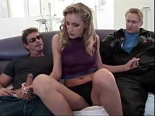 Angel Long threesome handjob