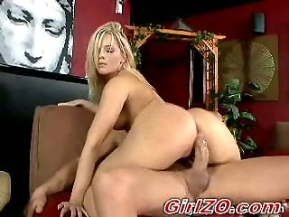 Alexis Texas bouncing on sucked dong