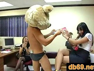 Striptease party in office