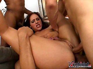 Lauren Phoenix butt hurt with 2 cocks inside it