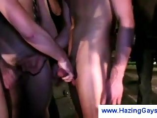 Students jerking off each other