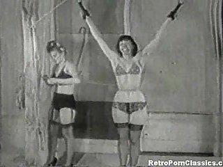 Vintage lesbian BDSM action