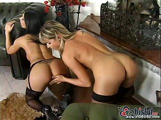 Nikki Montana and Nikki Rider fucked in foursome