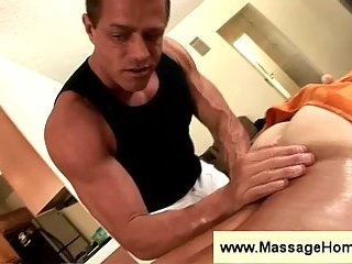 Massage with gay back & ass rubbing