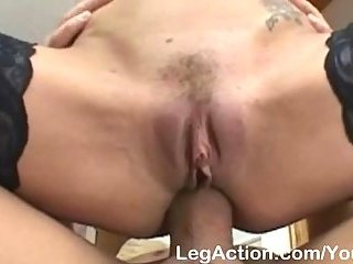 Busty Shannon hard ramming in stockings