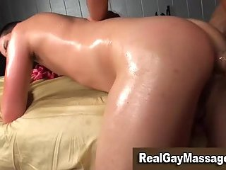 Straight gay anal fucked by masseur