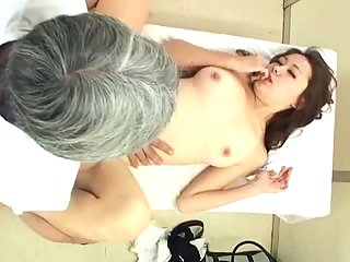 Massage therapy with fucking