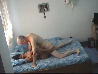 Asian Hottie Serves Old Man