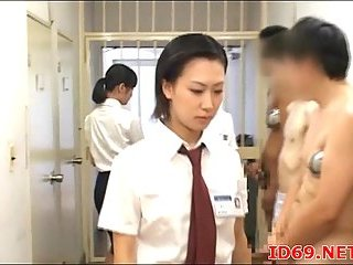 Japanese jerking off in a prison