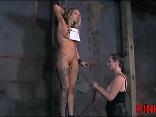 BDSM action for tattooed blonde
