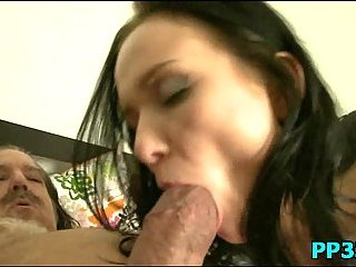 Teen slut pounded by mature stud cock