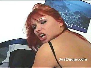 Booty redhead skank banged