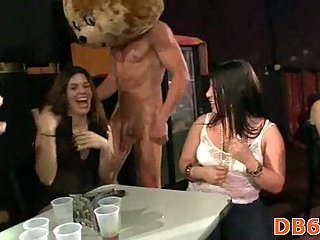 Horny strippers exposing their big cocks
