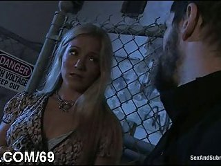 Intense BDSM sex in doggy pose