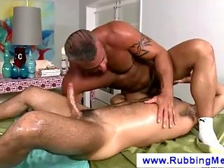 Gay masseuse tries position sixtynine