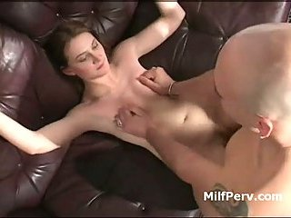 Sexy MILF gets her pink pussy fucked