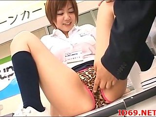 Japanese Slut In Panties Gets Twat Fingered