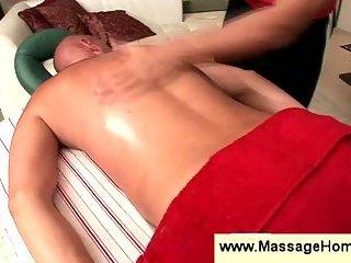 Masseur making kinky moves