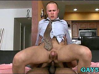 Monster cock slamming white ass