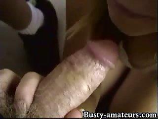 Candys sucking stiff dick