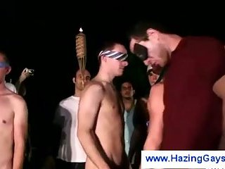 Gays dared to play wicked naked games