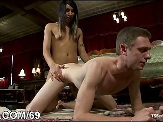 Defiant T-girl punishes and fucks guy