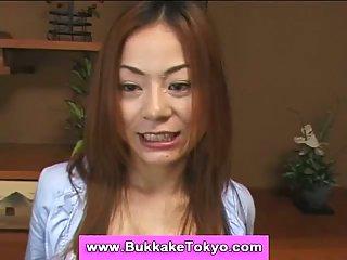 Japanese cutie swallowing sperm