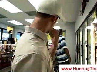 White gay boy eats chocolate cock