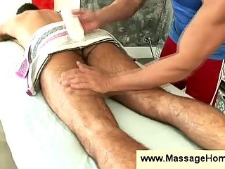 Sport turns into gay erotic massage