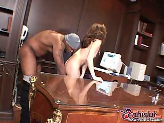 Bella Maria in office bareback poking